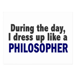 Cartão Postal Durante o dia eu visto-me acima como um filósofo