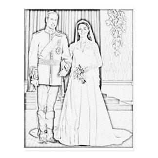 Cartão Postal E casamento do kate