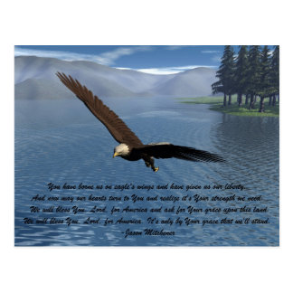 Cartão Postal Eagle com poema