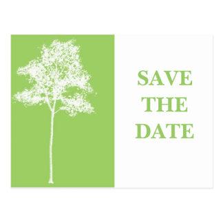 Cartão Postal ECONOMIAS da árvore a DATA