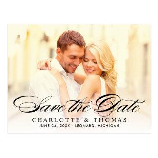 Cartão Postal Economias da foto do casamento o roteiro elegante