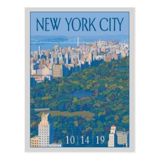 Cartão Postal Economias da Nova Iorque | a data