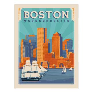 Cartão Postal Economias de Boston, Massachusetts | a data