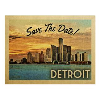 Cartão Postal Economias de Detroit a data Michigan