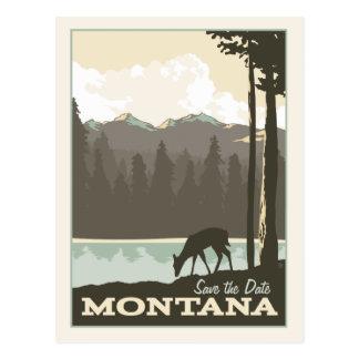 Cartão Postal Economias de Montana | a data