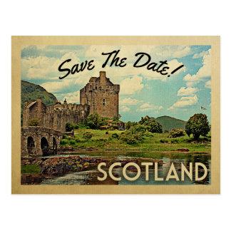 Cartão Postal Economias de Scotland o castelo de Eilean Donan da