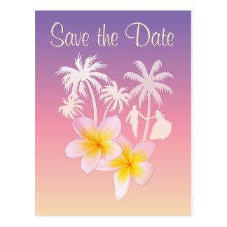 Cartão Postal Economias do Frangipani o anúncio do casamento da