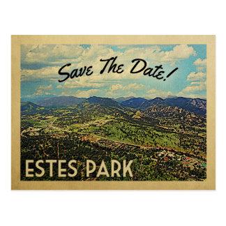 Cartão Postal Economias do parque de Estes a data Colorado