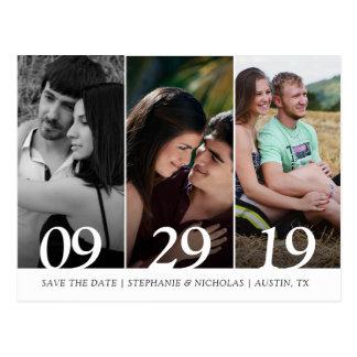 Cartão Postal Economias modernas do casamento da foto a data