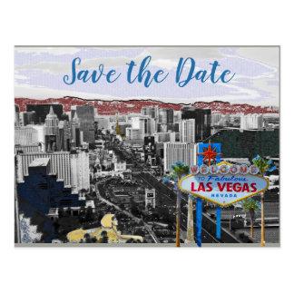 Cartão Postal Economias modernas Wedding de Las Vegas da data