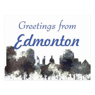 Cartão Postal Edmonton Alta. Skyline-BATATA FRITA