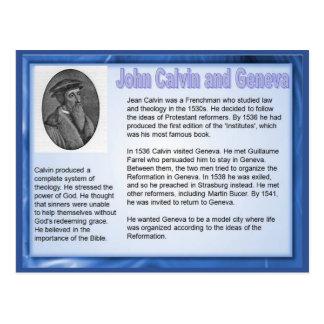 Cartão Postal Educação, religião, João Calvino e Genebra