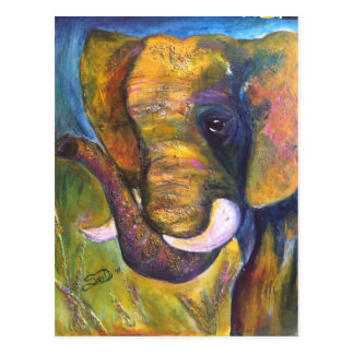 Cartão Postal Elefante