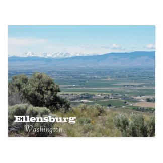Cartão Postal Ellensburg, viagem de Washington