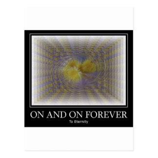 Cartão Postal Em e sobre para sempre
