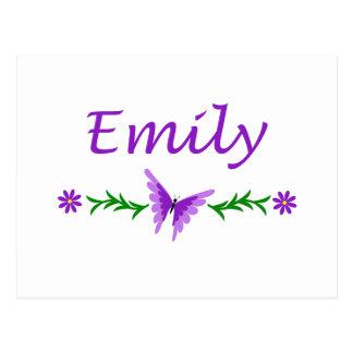 Cartão Postal Emily (borboleta roxa)