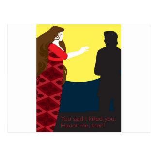 Cartão Postal Emily Bronte/Wuthering o design do presente da