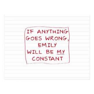 Cartão Postal Emily é minha constante