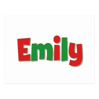Cartão Postal Emily vermelha e verde