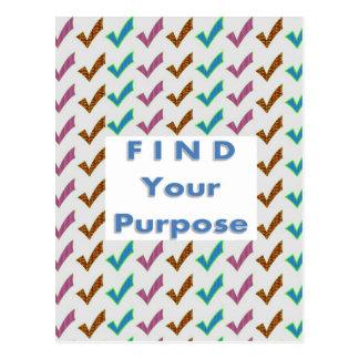 Cartão Postal Encontre sua FINALIDADE - palavras da sabedoria