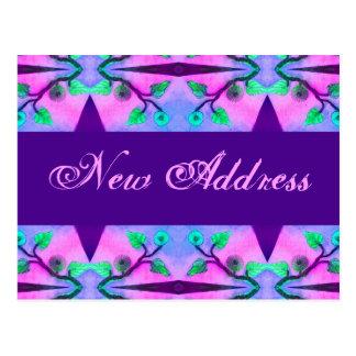 Cartão Postal Endereço novo floral