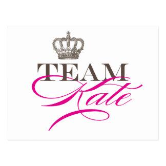 Cartão Postal Equipe Kate | o casamento real