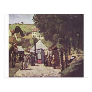 Cartão Postal Eremitage, Pontoise por Paul Cezanne