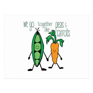 Cartão Postal Ervilhas & cenouras