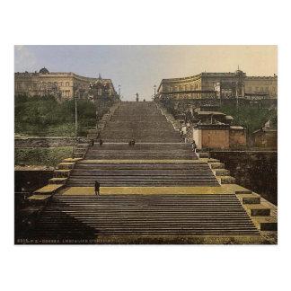 Cartão Postal Escada de Richelieu, Odessa, Rússia, (isto é,