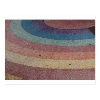 Cartão Postal Escala desvanecida do arco-íris