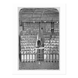 Cartão Postal Escola adulta na capela, no sistema separado