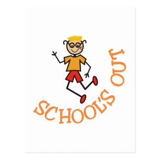 Cartão Postal Escolas para fora