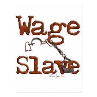 Cartão Postal Escravo do salário