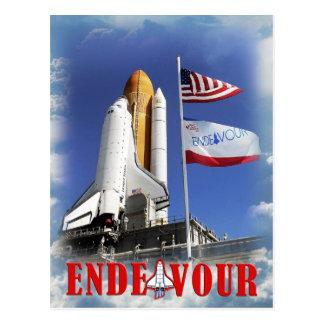 Cartão Postal Esforço do vaivém espacial, Centro Espacial