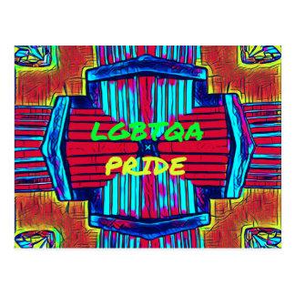 Cartão Postal 'Espectro inclusivo do arco-íris do ORGULHO de
