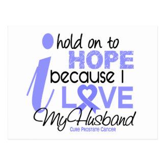 Cartão Postal Esperança do cancro da próstata para meu marido