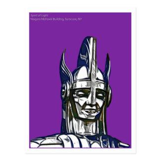 Cartão Postal Espírito da luz, construção do Mohawk de Niagara,