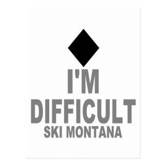 Cartão Postal Esqui difícil MONTANA