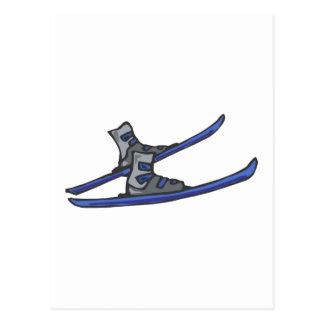 Cartão Postal Esquis & botas