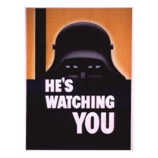 Cartão Postal Está olhando-o propaganda