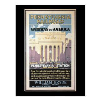Cartão Postal Estação de Penn, entrada a América 1929