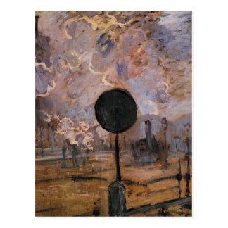 Cartão Postal Estação do Santo-Lazare, exterior por Claude Monet