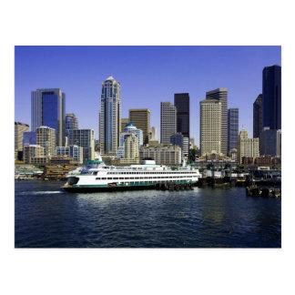 Cartão Postal Estado de Washington da balsa de Seattle