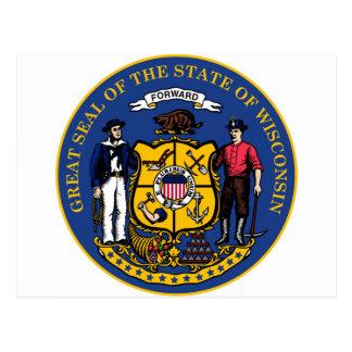Cartão Postal Estado seal.jpg de Wisconsin
