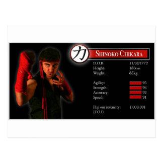 Cartão Postal Estatísticas de Shinoko