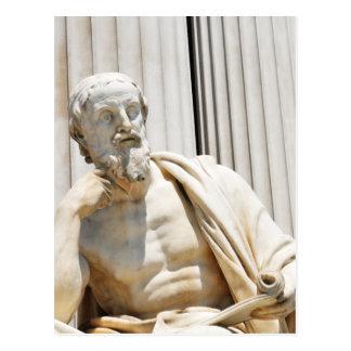 Cartão Postal Estátua do filósofo grego
