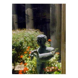 Cartão Postal Estátua do jardim de Pompeii