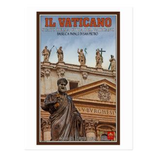 Cartão Postal Estátuas da Cidade do Vaticano