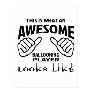 Cartão Postal Este é o que um jogador ballooning impressionante