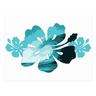 Cartão Postal Estilo do surf do hibiscus